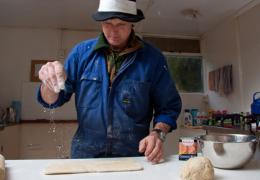 Steve Croasdale, flaky pastry, Campbell Island Bicentennary Expedition